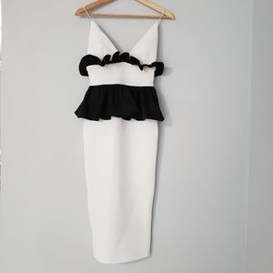 ASOS midi ruffle dress